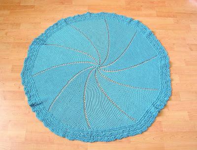 Sirdar Pattern 1799 - Hand Crochet Baby Blanket - Circular