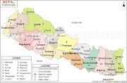 नेपाल संसार को मान चित्र मा