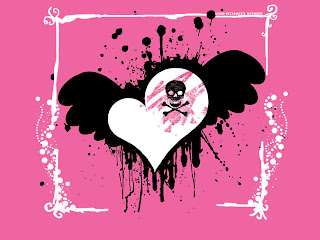 Emo Heart Love wallpaper