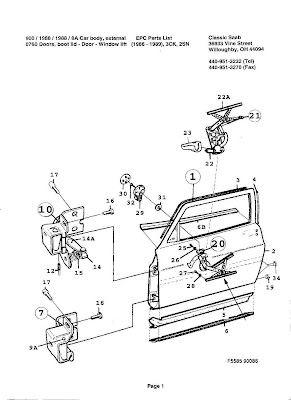 high maintenance 1988 saab 900 driver s door rh floppytop blogspot com Saab 900 Engine Diagram Saab Parts Diagram