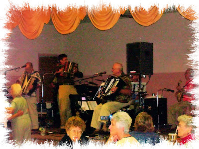Jamming session at SNPJ Lodge 778 at Thanksgiving dinner and dance party