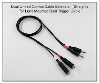 LT1008: Dual Linked Combo Cable Extension (Straight) for Lens Mounted Dual Trigger Cable