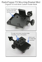 CP1028: RadioPopper PX Mounting Bracket Mod - Original 1/2 inch thick Custom Guide Block