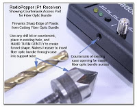 CP1035: RadioPopper P1 Receiver - Showing countersunk Access Port for Fiber Optic Bundle