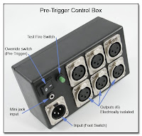 PT1001: 1 x 6 Pre-Trigger Control Box w/ Override Switch using for Heavy Duty Cables