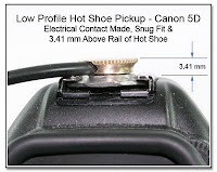 HS1010B: Low Profile Hot Shoe Pickup - Canon 5D