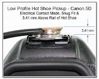 HS1010B: Low Profile Hot Shoe Pickup - Canon 5D