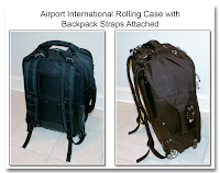 CP1104: Airport International Rolling Case with Backpack Straps Attached