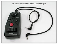 LT1033: Canon ZR-1000 Remote w/ Extra Cable Output