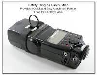 PJ1091: Safety Ring on Cinch Strap: Provides a Quick and Easy Attachment Point of Loop for a Safety Cable