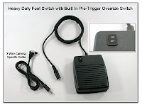 LT1021A (PT1029): Heavy Duty Foot Switch with Built in Pre-Trigger Override Switch