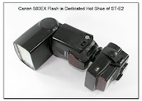 OC1050A: Canon 580 EX Flash in Dedicated hot Shoe for Dual AF Assist LEDs