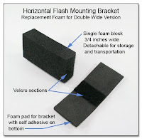 Horizontal Flash Mounting Bracket - Replacement Foam for Double Wide Version