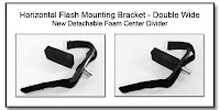 Horizontal Flash Mounting Bracket - Double Wide Version w/ Detachable Foam Center Divider