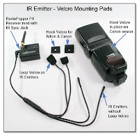 CP1104AF: IR Emitter - Velcro Mounting Pads