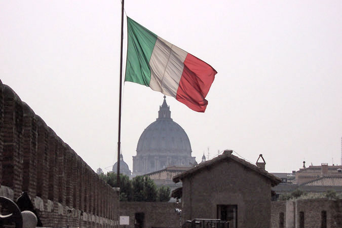 italy flag pictures. map and flag italy