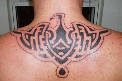 Upper Back Bird Tattoo