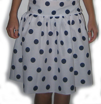 polka dot, black, white, dot, skirt, handmade, fabric, sewn, sewing
