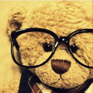 cute, bear, glasses