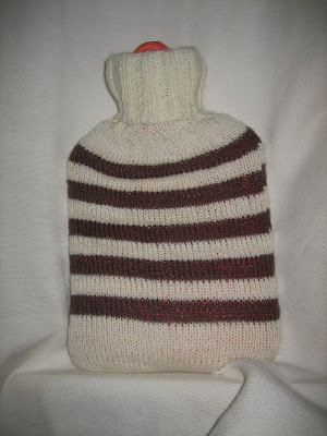 hot water bottle cover, knit, stripe, winter, cold, hot