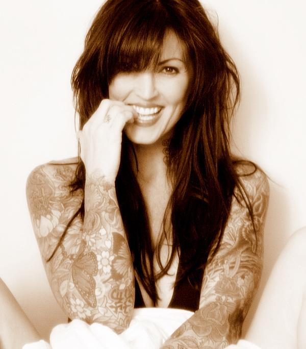 beautiful woman with Japanese sleeve tattoos