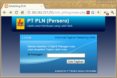 Cek Tagihan Listrik Online - Via Internet