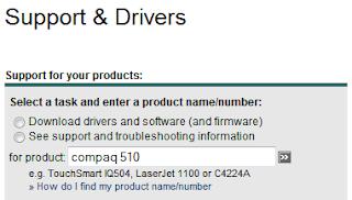 Search Driver HP Compaq 510