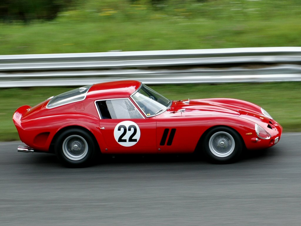 ... iconic cars including the original Ford GT and this classic '62 Ferrari.