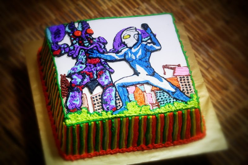 Ultraman Birthday Cake Design : Birthday Cake Center: Ultraman and power rangers cake