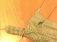WIP knitted gloves