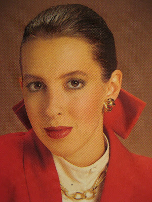 80s hair earrings makeup