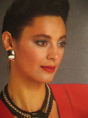 80s earrings makeup