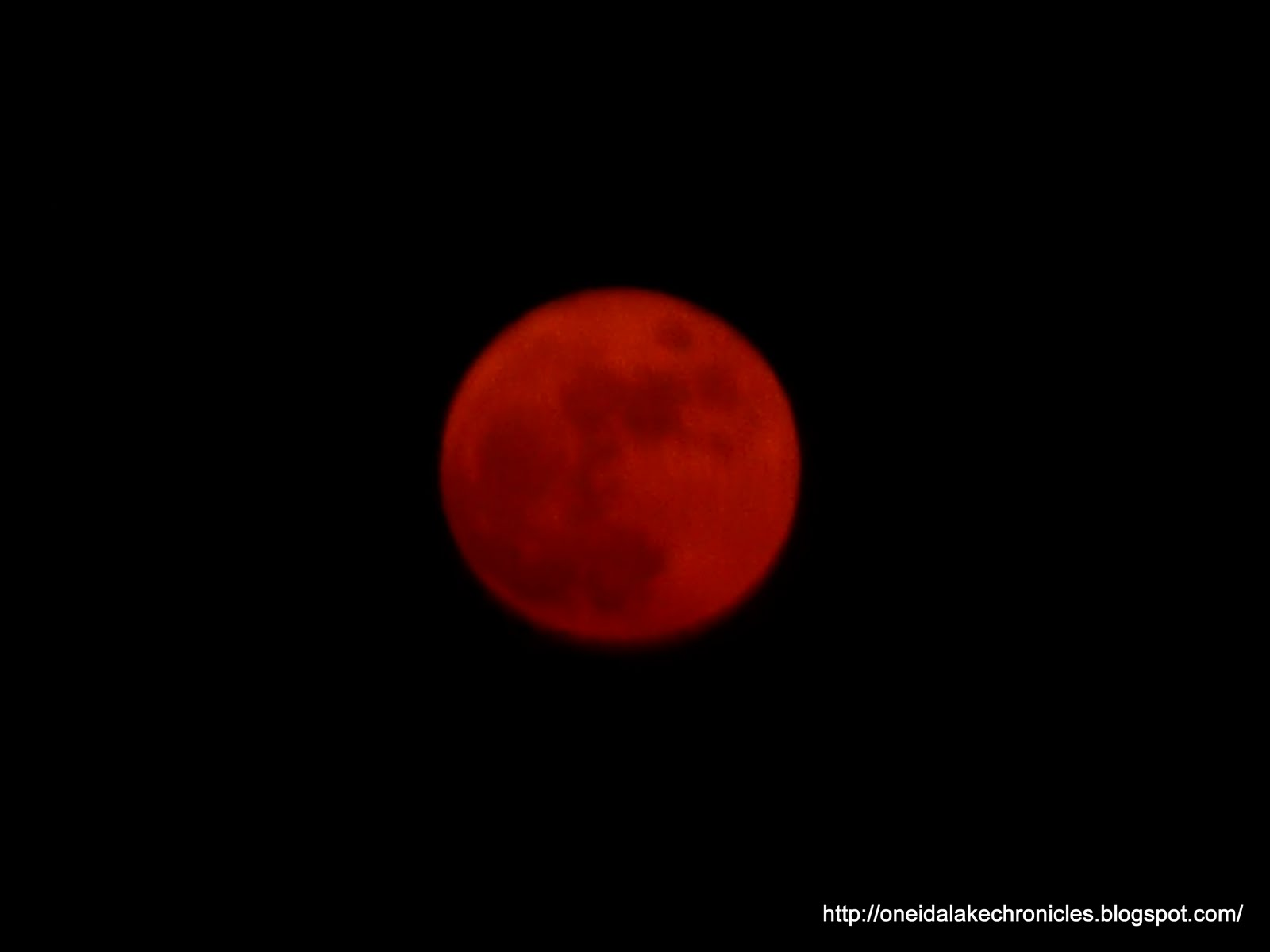 Oneida Lake Chronicles: Blood Red Full Moon over Oneida ...