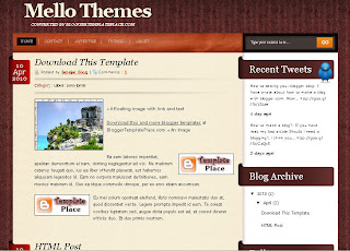 mello blogger template