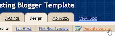 Blogger Template Designer