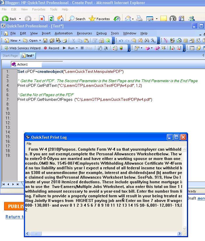 hp quicktest professional pdf manipulation with qtp rh hpqtpautomation blogspot com HP QuickTest Professional Training HP QuickTest Professional Tutorial