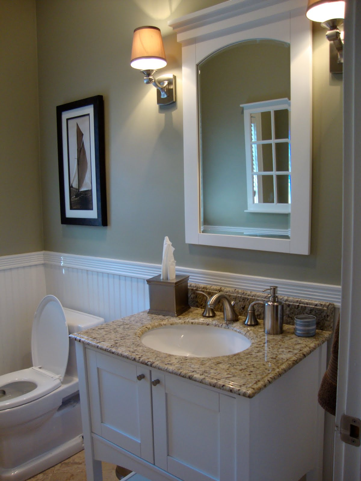104 ways to make a house a home downstairs bathroom for Benjamin moore grey bathroom