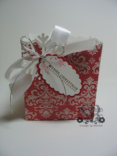 Fancy Favor Box in Christmas Cocoa DSP
