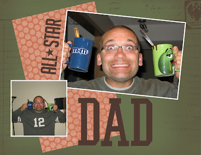 All Star Dad Digital Layout