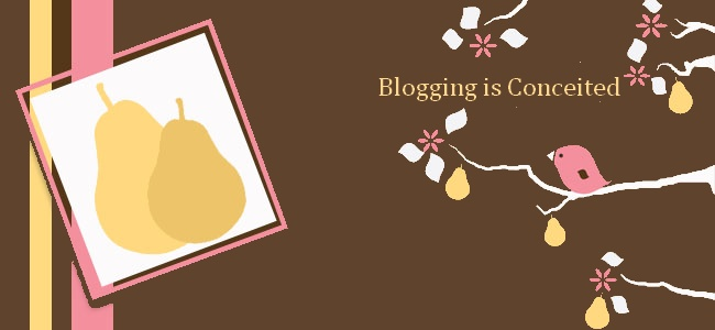 Blogging is conceited