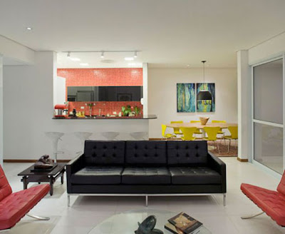 Brazilian Living Room, Mini Bar Design