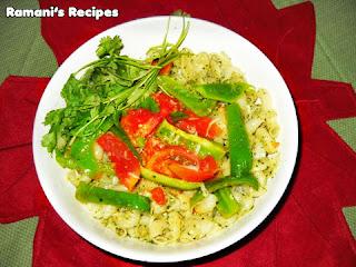Cilantro Pasta - Ramani's Recipes © Ramani Ramaiah