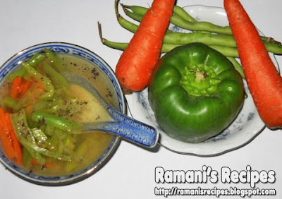 Lemon Pepper Soup - Ramani's Recipes © Ramani Ramaiah