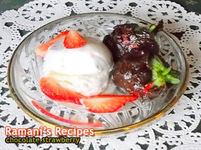 Chocolate Strawberry with Ice Cream - Ramani's Recipes