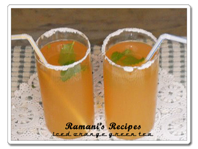 Iced Orange Green Tea - Ramani's Recipes