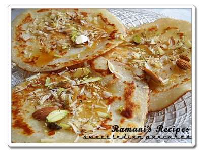 Sweet Indian Pancakes - Ramani's Recipes