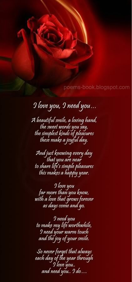 i love you poems. i love you poems for your