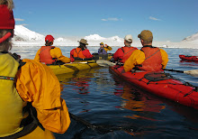 Kayak briefing at Halfmoon Island