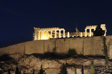 The Parthenon by night