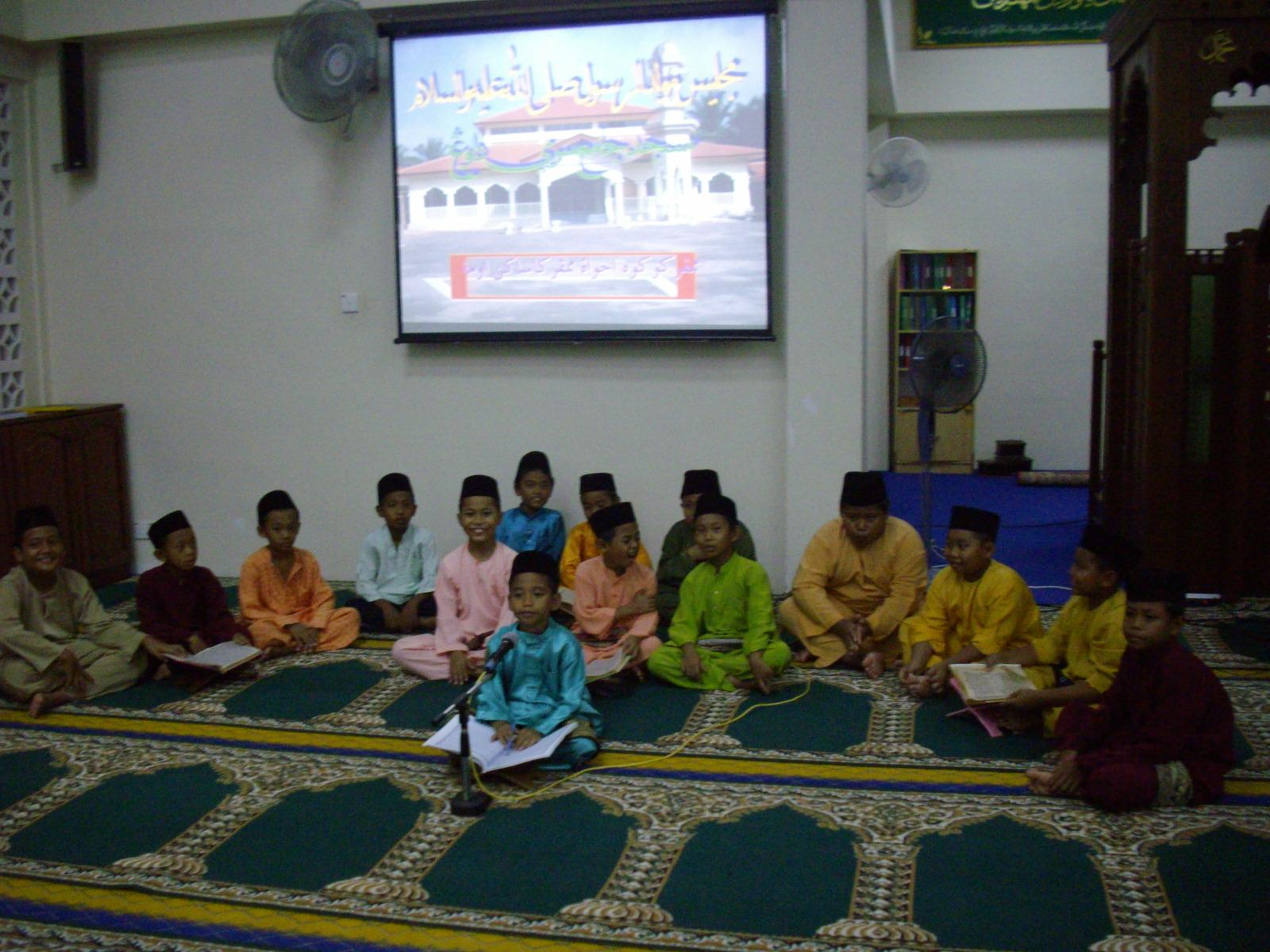 Semoga Majlis Ini Dapat Dijadikan Permulaan Sayang Masjid Bagi Anak